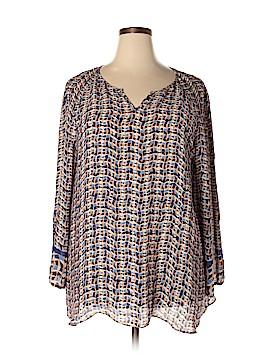 Nic + Zoe Long Sleeve Blouse Size 2X (Plus)
