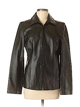 New York & Company Leather Jacket Size M