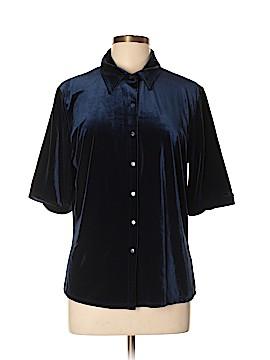 Max Studio Short Sleeve Button-Down Shirt Size XL