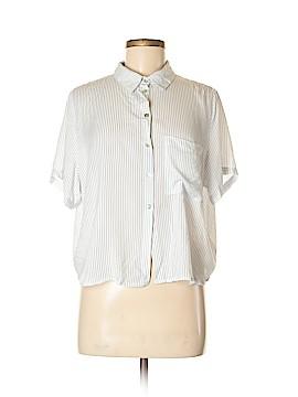 KatWalk Short Sleeve Button-Down Shirt Size L