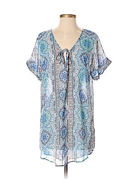 Francesca's Short Sleeve Button-Down Shirt Size S
