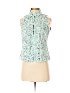 Hartford Sleeveless Button-Down Shirt Size 2