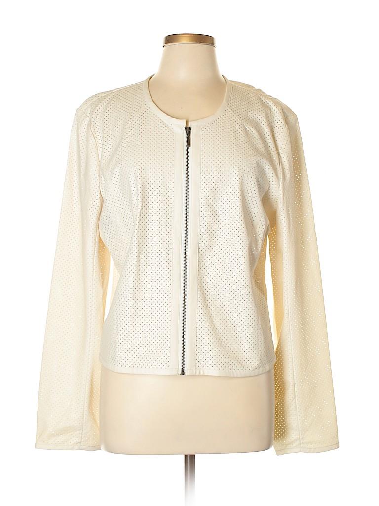 Robert Rodriguez Women Faux Leather Jacket Size XL