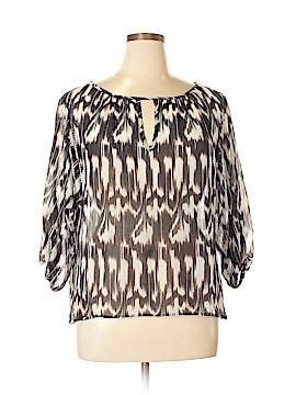 Trina Turk 3/4 Sleeve Blouse Size L