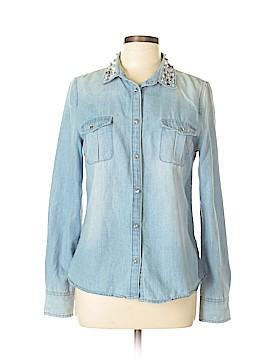 Boston Proper Long Sleeve Button-Down Shirt Size 10