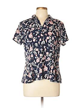 Dana Buchman Short Sleeve Blouse Size L (Petite)