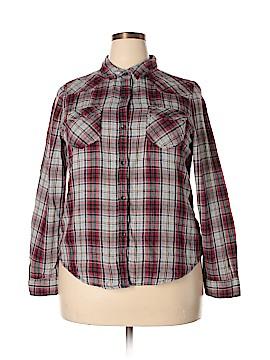 Vanilla Star Long Sleeve Button-Down Shirt Size XXL