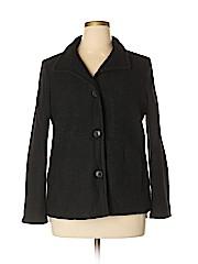 Lands' End Women Wool Coat Size 14 (Petite)