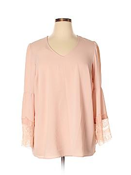 Nine West 3/4 Sleeve Blouse Size 1X (Plus)