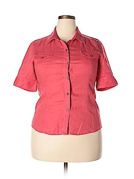 Saks Fifth Avenue Short Sleeve Button-Down Shirt Size 14