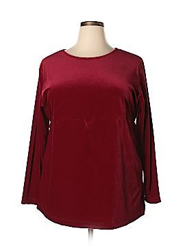 Liz Baker Essentials Long Sleeve Blouse Size 2X (Plus)