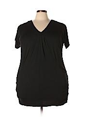 INC International Concepts Women Short Sleeve Top Size 1X (Plus)