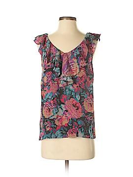 Moulinette Soeurs Short Sleeve Silk Top Size 4
