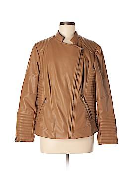 Calvin Klein Faux Leather Jacket Size 0X (Plus)