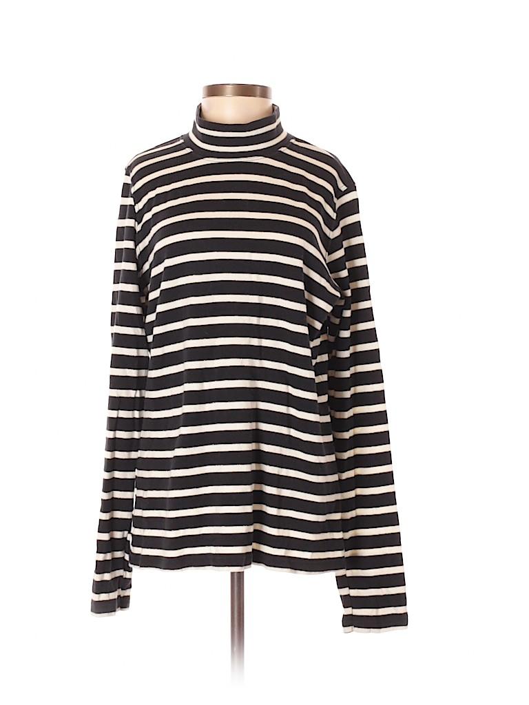 7b79d595773f9 White Stag Stripes Black Long Sleeve Turtleneck Size M - 55% off ...