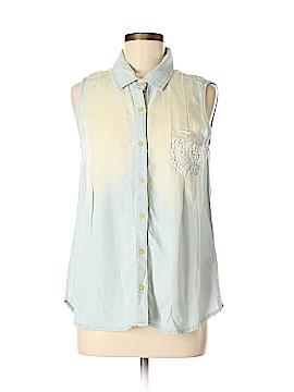 Jun & Ivy Sleeveless Button-Down Shirt Size M