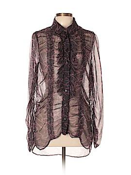 Sonia Rykiel Long Sleeve Silk Top Size 44 (FR)