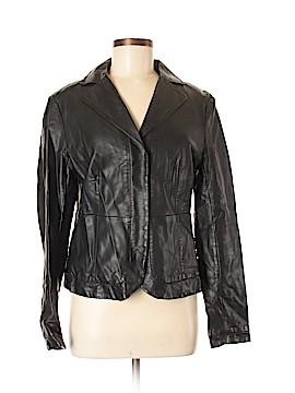 Ann Taylor Faux Leather Jacket Size M