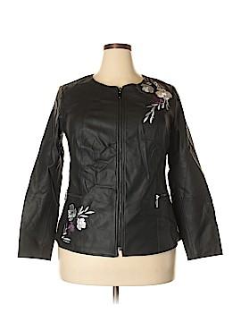 Alfani Faux Leather Jacket Size 1X (Plus)