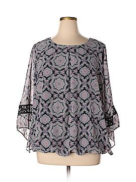 AB Studio 3/4 Sleeve Blouse Size 1X (Plus)