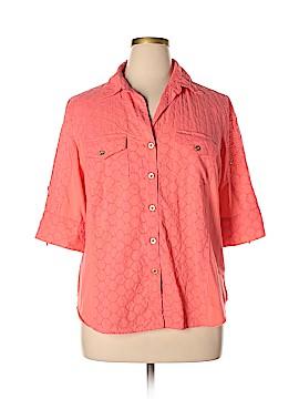 Anne Klein Short Sleeve Button-Down Shirt Size 2X (Plus)