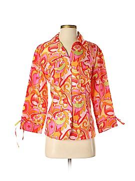 Anne Carson Long Sleeve Silk Top Size M