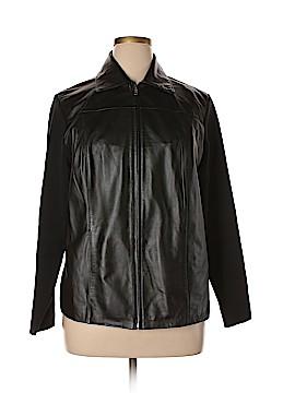 INC International Concepts Leather Jacket Size 2X (Plus)