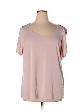 Eileen Fisher Short Sleeve Silk Top Size 2X (Plus)