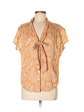 Valerie Stevens Short Sleeve Blouse Size M
