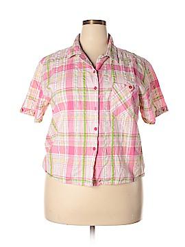 Bobbie Brooks Short Sleeve Button-Down Shirt Size 20 W (Plus)