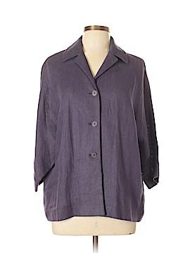 Linda Allard Ellen Tracy 3/4 Sleeve Button-Down Shirt Size 10 (Petite)