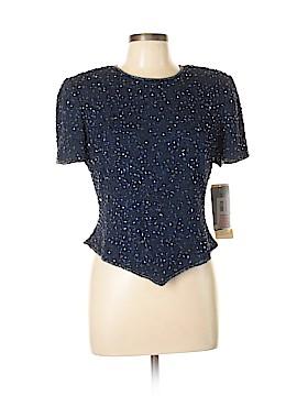 Adrianna Papell Short Sleeve Silk Top Size 12