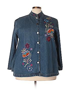 Life Style Denim Jacket Size 3X (Plus)