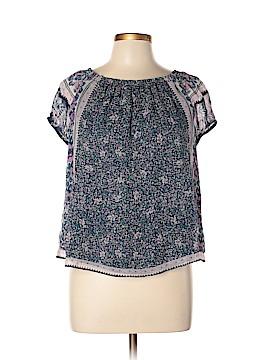 Joie Short Sleeve Silk Top Size L