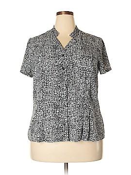 Dana Buchman Short Sleeve Button-Down Shirt Size XXL
