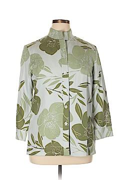 Linda Allard Ellen Tracy 3/4 Sleeve Silk Top Size 14