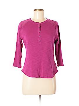 Chaps 3/4 Sleeve Button-Down Shirt Size M (Petite)