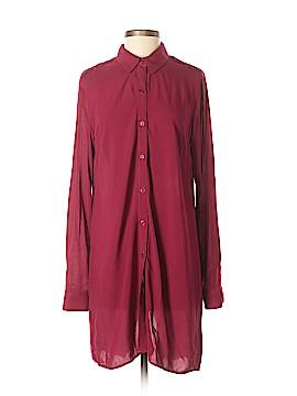 Split Long Sleeve Button-Down Shirt Size S
