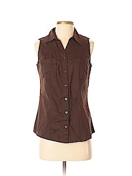 St. John's Bay Sleeveless Button-Down Shirt Size S