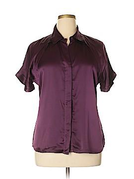 Pendleton Short Sleeve Silk Top Size 14
