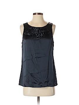 LUXE Sleeveless Silk Top Size XL