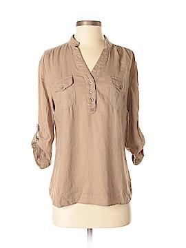 Cynthia Rowley TJX 3/4 Sleeve Button-Down Shirt Size M