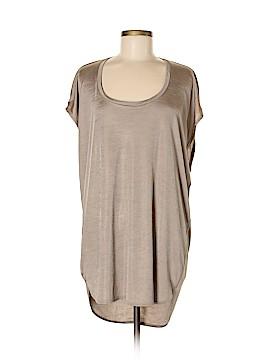 Aqua Short Sleeve Blouse Size M