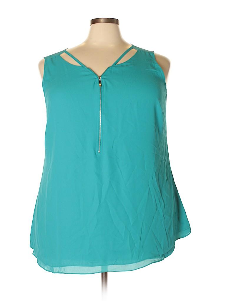City Chic Women Sleeveless Blouse Size L (Plus)