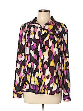 Dana Buchman Long Sleeve Button-Down Shirt Size L