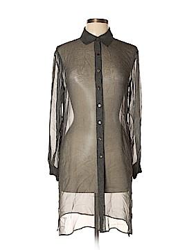 Robbie Bee Long Sleeve Silk Top Size 6