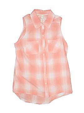 Girl Krazy Sleeveless Button-Down Shirt Size M