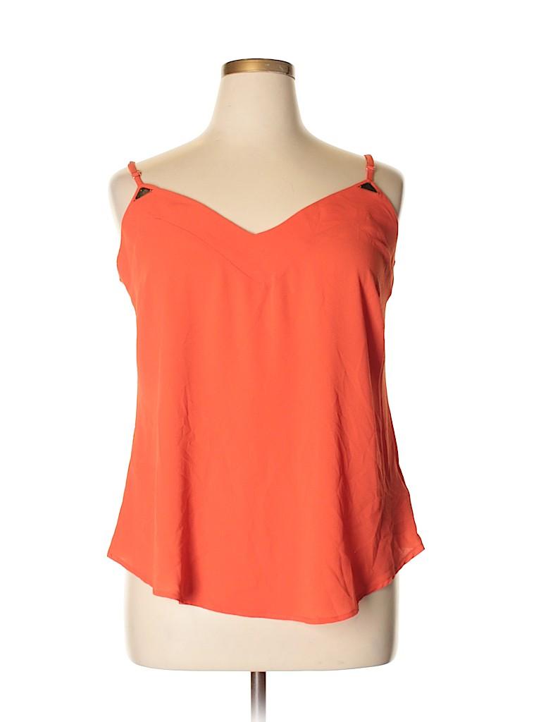 City Chic Women Sleeveless Blouse Size 14 Plus (XS) (Plus)