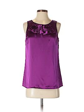LUXE Sleeveless Silk Top Size S