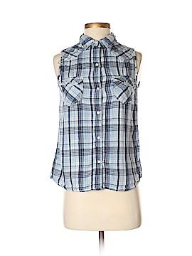 Vanilla Star Sleeveless Button-Down Shirt Size S
